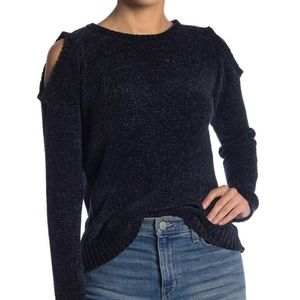 BB Dakota Hot n Cold Shoulder Sweater Chenille